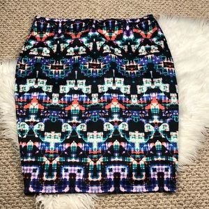 SOLD - Colorful Skirt Cool Print